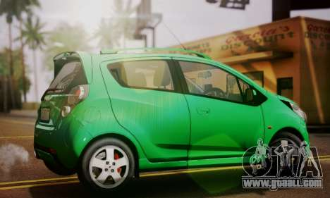 Chevrolet Spark 2011 for GTA San Andreas left view