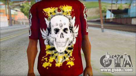 Skull T-Shirt for GTA San Andreas third screenshot