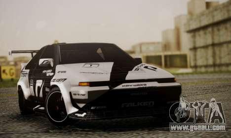 Toyota Corolla AE86 SHIFT2 for GTA San Andreas