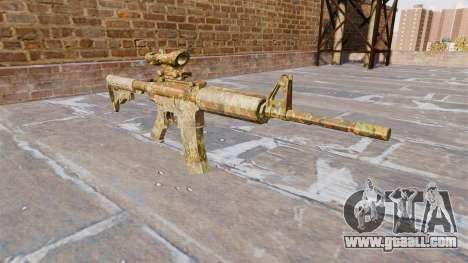 Automatic carbine MA Skol Camo for GTA 4