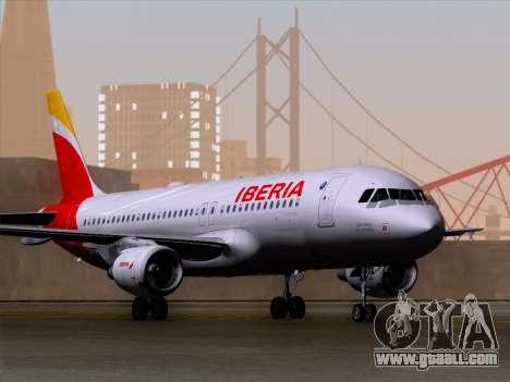 Airbus A320-214 Iberia for GTA San Andreas