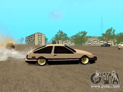 Toyota Corolla AE86 Trueno JDM for GTA San Andreas upper view