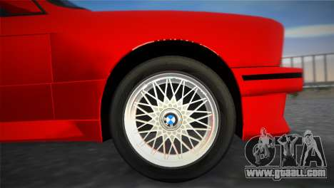 BMW M3 (E30) 1987 for GTA Vice City right view