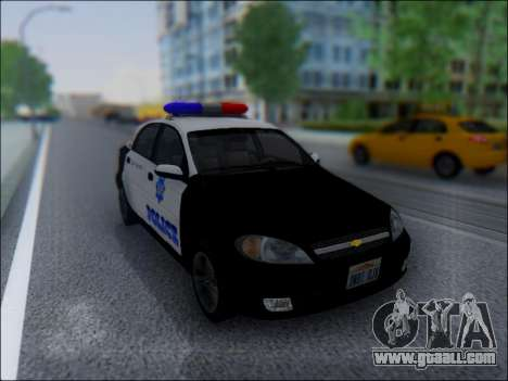 Chevrolet Lacetti Police for GTA San Andreas back view