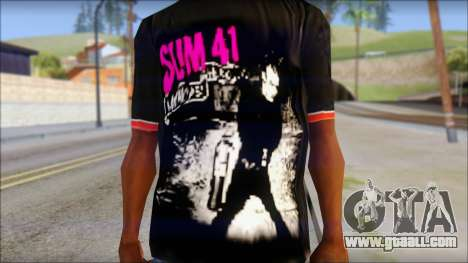 Sum 41 T-Shirt for GTA San Andreas third screenshot