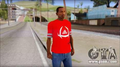 T-Shirt Adidas Red for GTA San Andreas