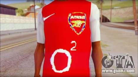 Arsenal Shirt for GTA San Andreas third screenshot
