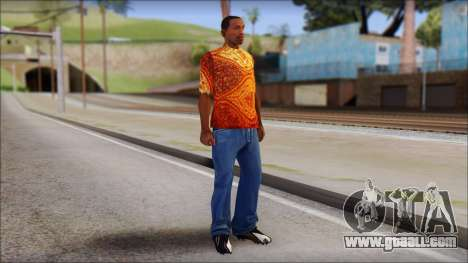 Batik Solo T-Shirt for GTA San Andreas third screenshot