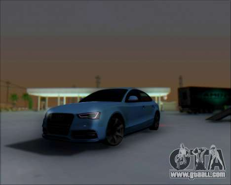 Audi A7 for GTA San Andreas back view
