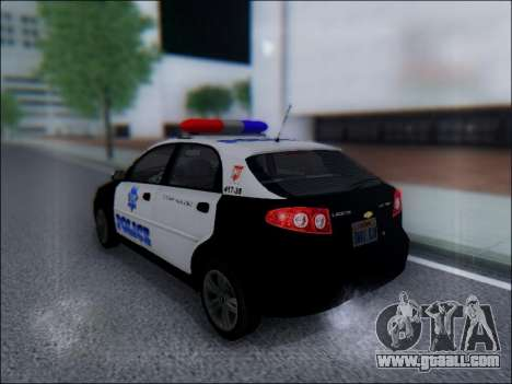 Chevrolet Lacetti Police for GTA San Andreas back left view