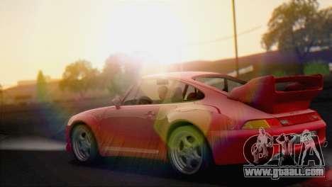 Porsche 911 GT2 (993) 1995 V1.0 EU Plate for GTA San Andreas back left view