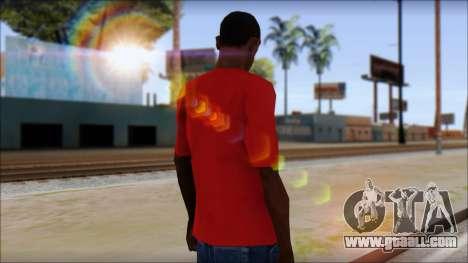 Arsenal T-Shirt for GTA San Andreas second screenshot