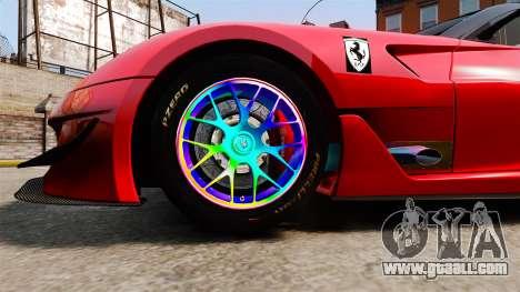 Ferrari F599 XX Evoluzione Simple CarbonFiber for GTA 4 back view