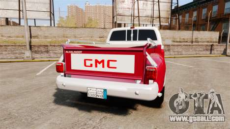 GMC 454 Pick-Up Up for GTA 4 back left view