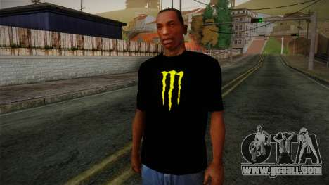 Monster Energy Shirt Black for GTA San Andreas