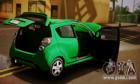 Chevrolet Spark 2011 for GTA San Andreas back view