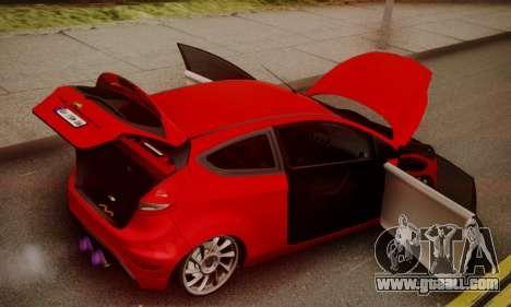 Ford Fiesta Turkey Drift Edition for GTA San Andreas inner view