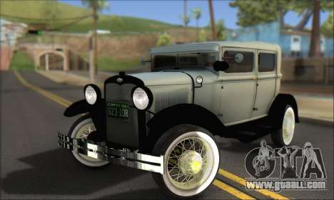 Ford A 1930 for GTA San Andreas bottom view