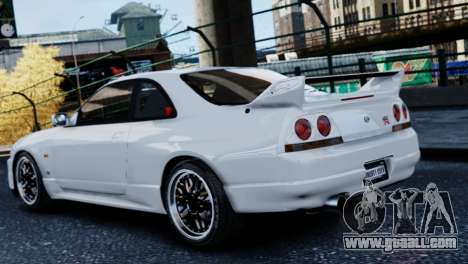 Nissan Skyline R33 1995 for GTA 4 left view