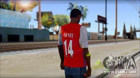 Arsenal Shirt for GTA San Andreas second screenshot