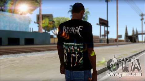 Bullet for my Valentine Fan T-Shirt for GTA San Andreas second screenshot