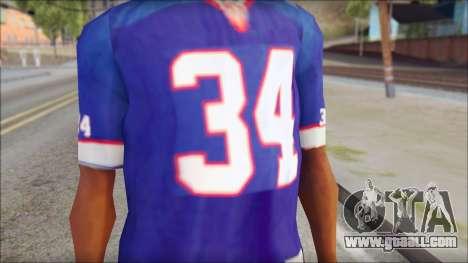 NY Buffalo Bills Blue for GTA San Andreas third screenshot