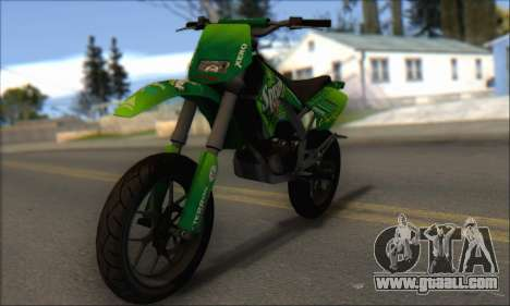Sanchez from GTA V - Supermoto for GTA San Andreas left view