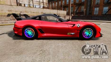 Ferrari F599 XX Evoluzione Simple CarbonFiber for GTA 4 left view