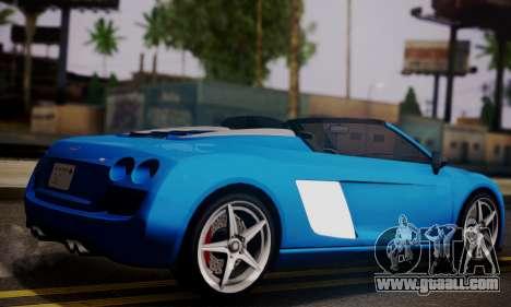 Obey 9F Cabrio for GTA San Andreas left view