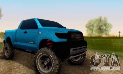 Toyota Tundra OFF Road Tuning Blue Star for GTA San Andreas back view