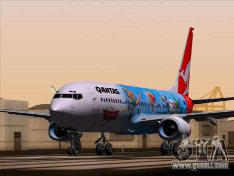 Boeing 737-800 Qantas for GTA San Andreas back left view