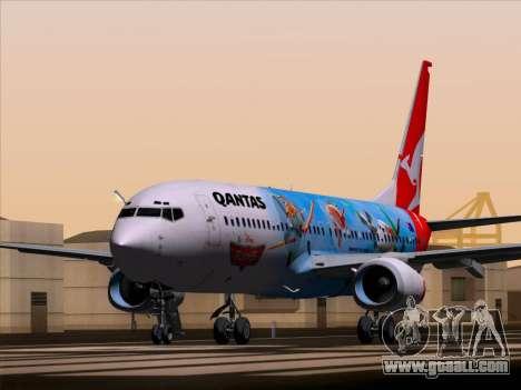 Boeing 737-800 Qantas for GTA San Andreas back left view