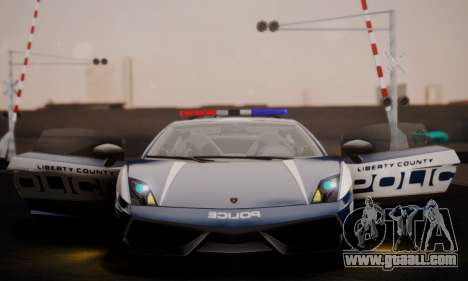 Lamborghini Gallardo LP 570-4 2011 Police v2 for GTA San Andreas bottom view