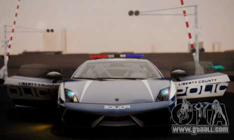 Lamborghini Gallardo LP 570-4 2011 Police v2 for GTA San Andreas upper view
