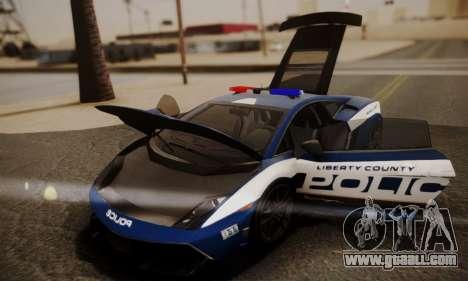Lamborghini Gallardo LP 570-4 2011 Police v2 for GTA San Andreas wheels