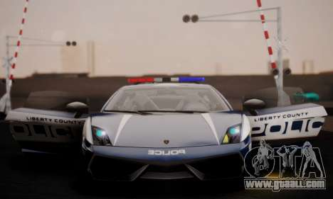 Lamborghini Gallardo LP 570-4 2011 Police v2 for GTA San Andreas side view