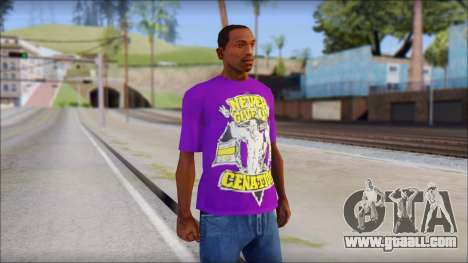 John Cena Purple T-Shirt for GTA San Andreas