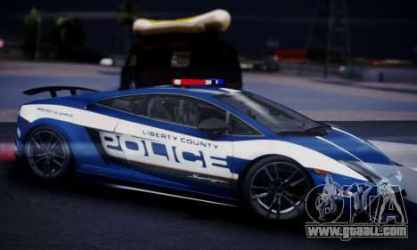 Lamborghini Gallardo LP 570-4 2011 Police v2 for GTA San Andreas right view