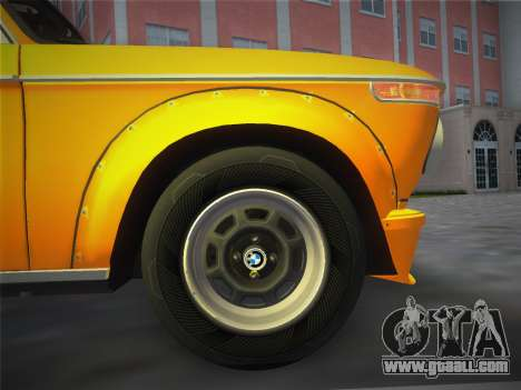 BMW 2002 Tii (E10) 1973 for GTA Vice City back view