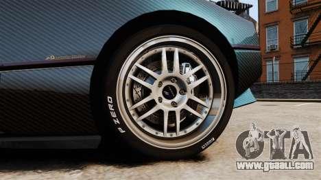 Pagani Zonda C12S Roadster 2001 v1.1 PJ3 for GTA 4 back view