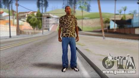 Tiger Skin T-Shirt Mod for GTA San Andreas third screenshot
