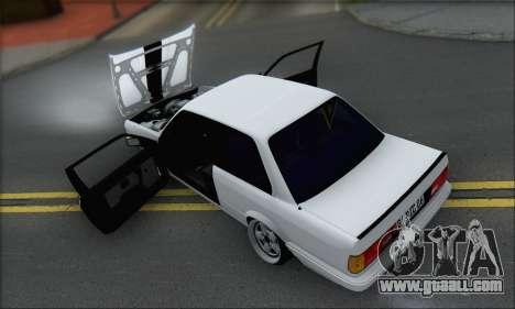 BMW M3 E30 for GTA San Andreas bottom view