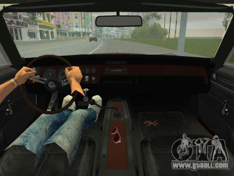 Dodge Charger RT 426 1968 for GTA Vice City inner view