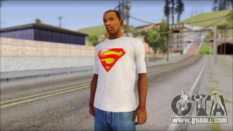 Superman T-Shirt for GTA San Andreas