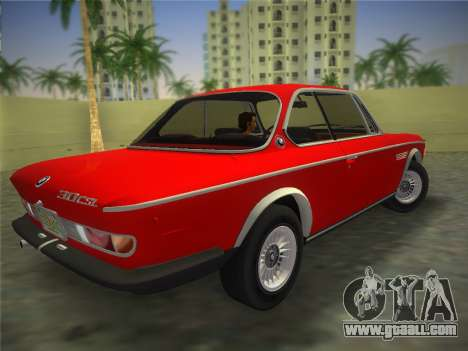 BMW 3.0 CSL 1971 for GTA Vice City left view