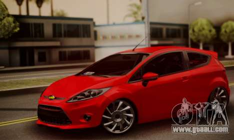 Ford Fiesta Turkey Drift Edition for GTA San Andreas back left view