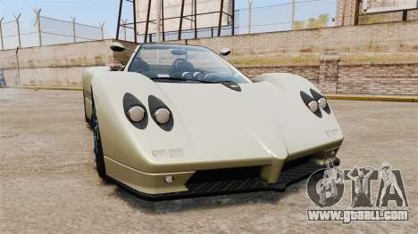 Pagani Zonda C12S Roadster 2001 v1.1 PJ1 for GTA 4
