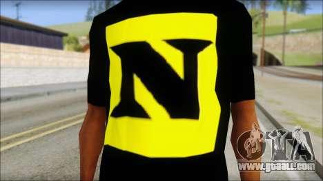 WWE Nexus T-Shirt for GTA San Andreas third screenshot