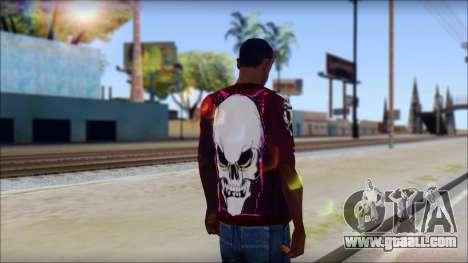 Skull T-Shirt for GTA San Andreas second screenshot