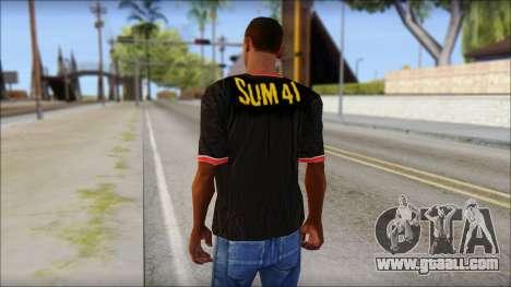 Sum 41 T-Shirt for GTA San Andreas second screenshot